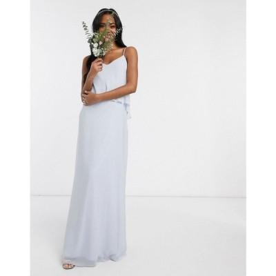 メイドトゥーメジャー Maids to Measure レディース パーティードレス スリップドレス マキシ丈 bridesmaid overlay slip maxi chiffon dress ホワイト