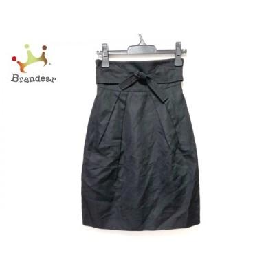 リュドゥマイユ RUE DU MAIL スカート サイズ34 S レディース 黒 リボン       スペシャル特価 20201006