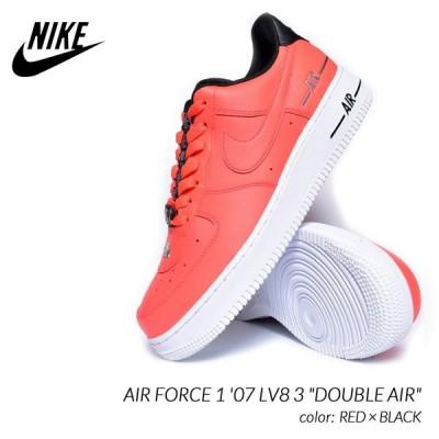 """NIKE AIR FORCE 1 '07 LV8 3 """"DOUBLE AIR"""" RED × BLACK ナイキ エアフォース 1 ダブルエアー スニーカー ( 赤 CJ1379-600 )"""