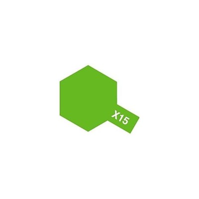 タミヤ タミヤカラー アクリルミニ X-15 ライトグリーン (光沢)