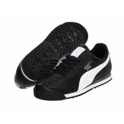 プーマ メンズ スニーカー シューズ Roma Basic Black/White/Puma Silver