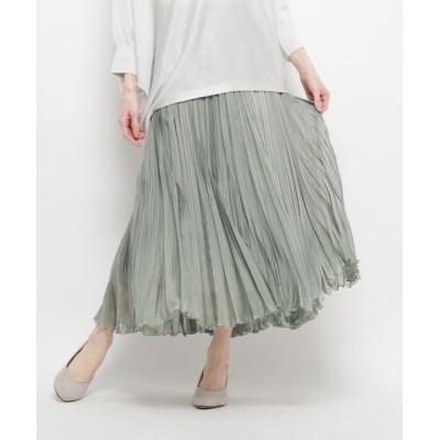 WORLD ONLINE STORE SELECT / プリーツロングスカート WOMEN スカート > スカート