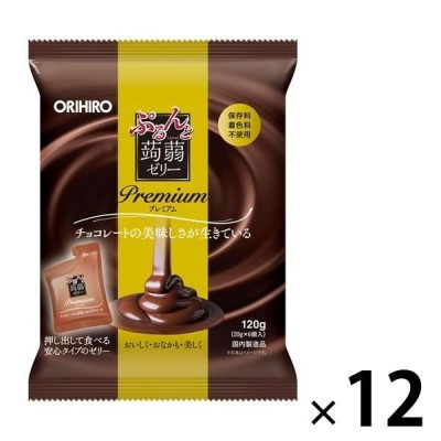 ぷるんと蒟蒻ゼリーパウチ プレミアムチョコレート 12個 オリヒロ 栄養補助ゼリー