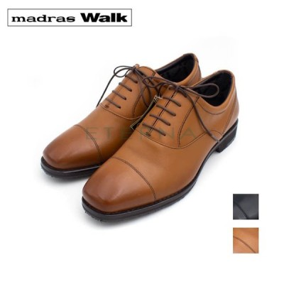madras Walk マドラスウォーク メンズ ビジネス スーツ 紳士靴 レザー ストレートチップ 防水 シンプル 軽量 ゴアテックス 4E 茶色 ブラック 黒 MW8000