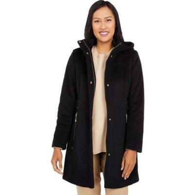 ヴィンス カムート Vince Camuto レディース コート フード アウター Hooded Wool Coat V20770-ZA Black