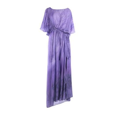 ジャストカヴァリ JUST CAVALLI ロングワンピース&ドレス パープル 46 レーヨン 81% / シルク 19% ロングワンピース&ドレス
