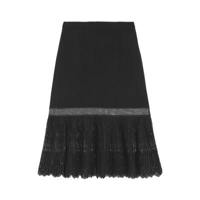 ステラ マッカートニー STELLA McCARTNEY 7分丈スカート ブラック 42 レーヨン 64% / アセテート 32% / ポリウレタン