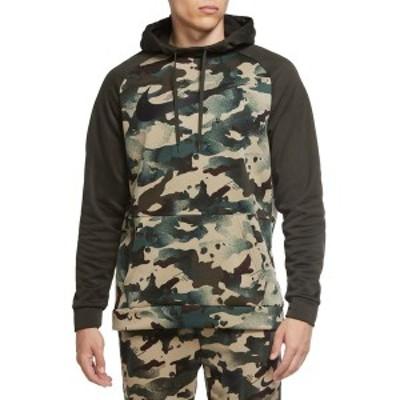 ナイキ メンズ パーカー・スウェットシャツ アウター Nike Men's Therma Camo Pullover Hoodie Sequoia
