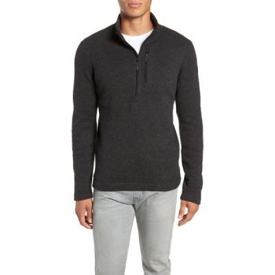 スマートウール SMARTWOOL メンズ ニット・セーター トップス Hudson Trail Regular Fit Fleece Half-Zip Sweater Dark Charcoal