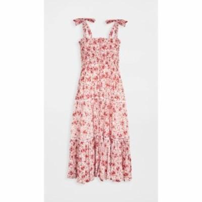 プーペット セント バース Poupette St Barth レディース ワンピース ワンピース・ドレス Smocked Dress White Red Watercolor