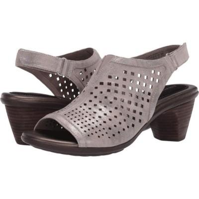 アラヴォン Aravon レディース サンダル・ミュール シューズ・靴 Medici Peep Metallic Dove