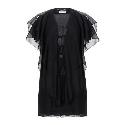 SAINT LAURENT ミニワンピース&ドレス ブラック 38 バージンウール 100% ミニワンピース&ドレス