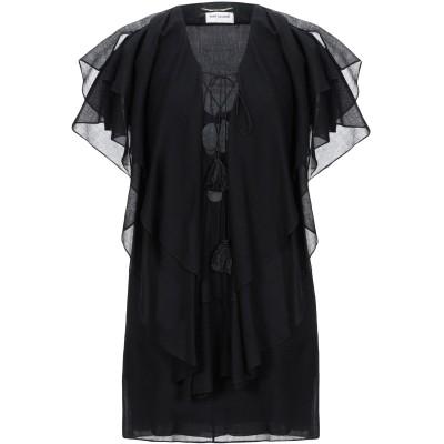 SAINT LAURENT ミニワンピース&ドレス ブラック 36 バージンウール 100% ミニワンピース&ドレス