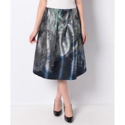 LAPINE BLANCHE / ラピーヌ ブランシュ NEON 花柄パネルジャカード スカート