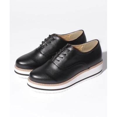 【シュークロ】 厚底オックスフォードシューズ(マニッシュシューズ) レディース ブラック S Shoes in Closet