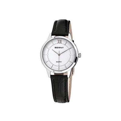 【新品・送料無料】BERNY Womens Watch, Classic Simple Vintage Minimalist Business Wristwatch Q