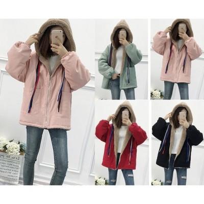 全4色 ファーコート 厚手 長袖 体型カバー 着痩せ 大きいサイズ