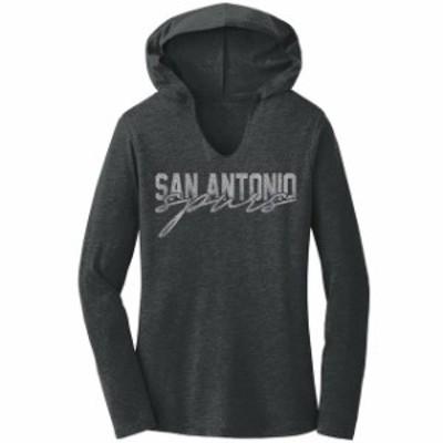 Titania Golf タイタニア ゴルフ スポーツ用品  San Antonio Spurs Womens Charcoal Bling Hoodie