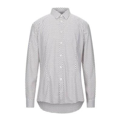 DANIELE ALESSANDRINI ダニエル アレッサンドリーニ 柄入りシャツ ファッション  メンズファッション  トップス  シャツ、カジュアルシャツ  長袖 ホワイト
