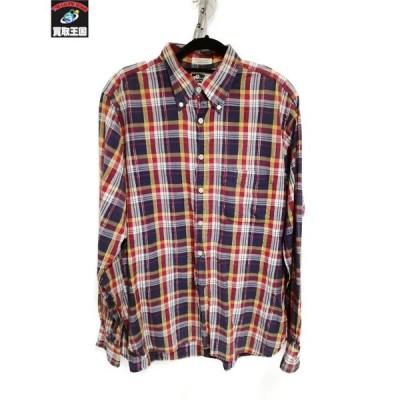Engineered Garments/チェックシャツ/ラメ/BDシャツ/M/RED
