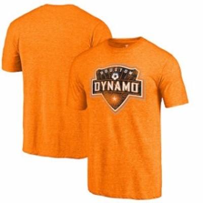 Fanatics Branded ファナティクス ブランド スポーツ用品  Fanatics Branded Houston Dynamo Orange Distressed Primary Logo Tri-Blend