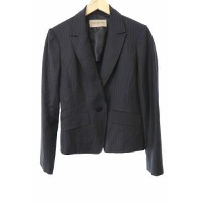 【中古】プロポーション ボディドレッシング PROPORTION BODY DRESSING ジャケット テーラード ストライプ 4 黒 レディース