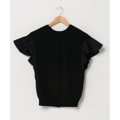 Abahouse Devinette / 袖フリル2WAYニットTシャツ WOMEN トップス > ニット/セーター