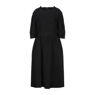 コム デ ギャルソン・シャツ COMME des GARÇONS 7分丈ワンピース・ドレス ブラック S コットン 100% / ウール / ポリエ