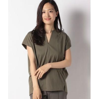 【マイカアンドディール】 combination blouse レディース カーキ F MICA&DEAL