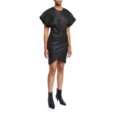 イロ レディース ワンピース トップス Oterma Dolman-Sleeve Leather Dress
