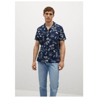 マンゴ メンズ ファッション MIT TROPENMUSTER - Shirt - dunkles marineblau