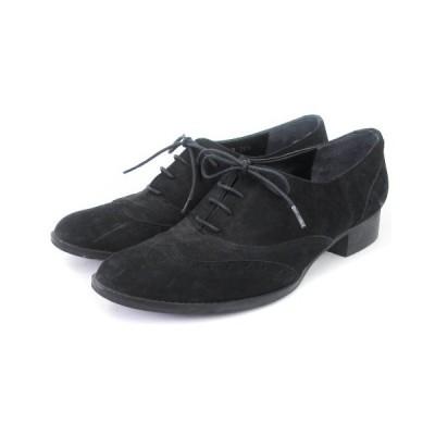 【中古】ダイアナ DIANA オックスフォード シューズ レースアップ ウィングチップ 黒 ブラック 23.5 靴 レディース 【ベクトル 古着】