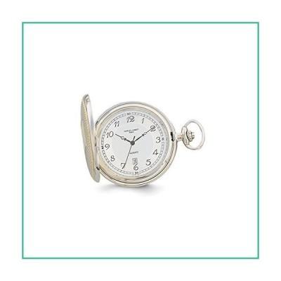 "Sonia Jewels Charles Hubert Gold Men's Finish Two-Tone White Dial Pocket Watch 14.5""(並行輸入品)"