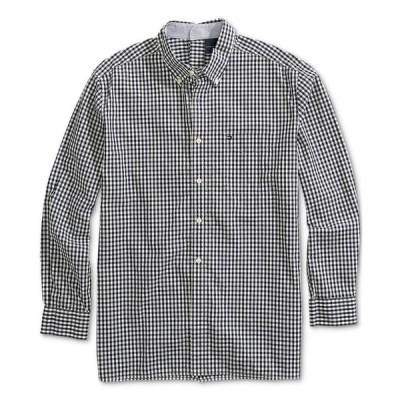 トミー ヒルフィガー メンズ シャツ トップス Men's Seated Twain Checked Shirt with Velcro Back Closure