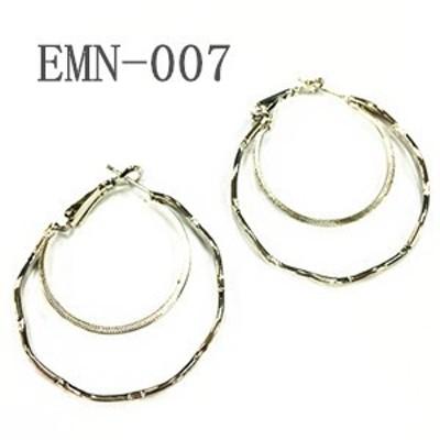 シンプルなリングピアス、フープピアス EMN-007