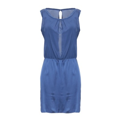 サイクル CYCLE ミニワンピース&ドレス ダークブルー XS シルク 94% / ポリウレタン® 6% ミニワンピース&ドレス