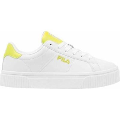 フィラ レディース スニーカー シューズ Women's Fila Panache Sneaker White/White/Safety Yellow