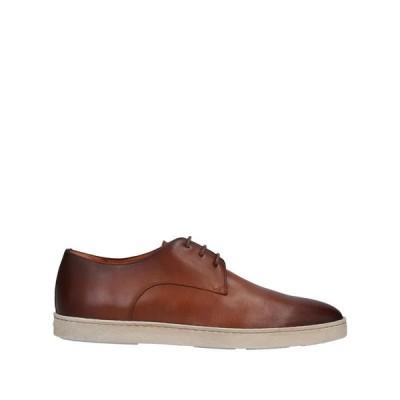 SANTONI レースアップシューズ ファッション  メンズファッション  メンズシューズ、紳士靴  その他メンズシューズ、紳士靴 ブラウン