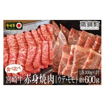 <宮崎牛赤身焼肉600g(300g×2)>