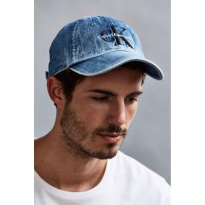 Calvin Klein カルバンクライン LOGO BASEBALL CAP ロゴ デニム キャップ グレー/インディゴ/ブラック Grey/Indigo/Black メンズ レディ