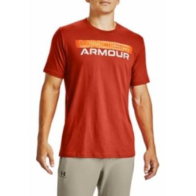 アンダーアーマー メンズ Tシャツ トップス Blurry Logo Wordmark T-Shirt Rich Orange