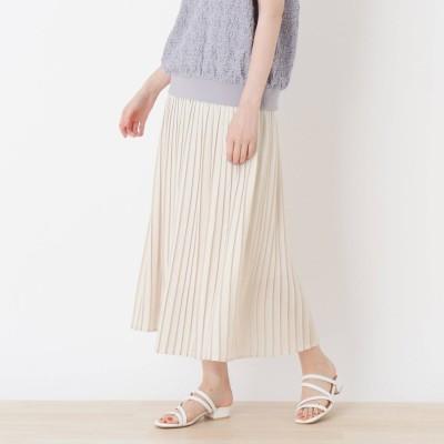 シューラルー SHOO-LA-RUE 【追加生産】サテンプリーツスカート (オフホワイト)