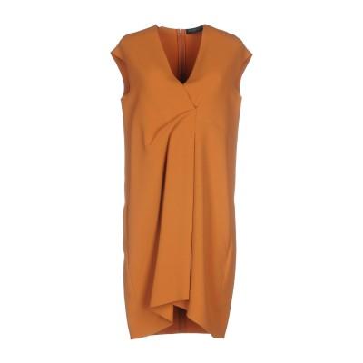ANTONELLI ミニワンピース&ドレス キャメル 42 50% レーヨン 47% アセテート 3% ポリウレタン ミニワンピース&ドレス