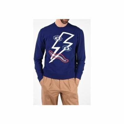 NEIL BARRETT/ニール バレット Blue メンズ Embroidered PICASSO LIGHTNING Box Fit Sweater dk