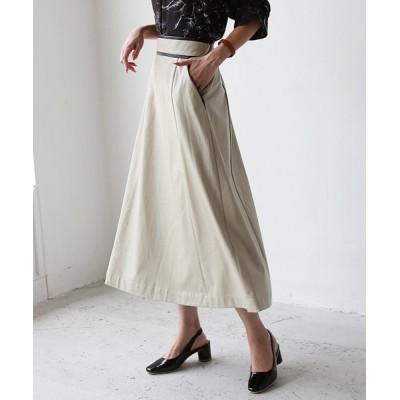 REAL CUBE / パイピングフェイクレザースカート WOMEN スカート > スカート