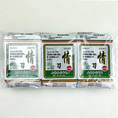 ソムンナン サンブザ 三父子 情 味付 のり 8切9枚 72袋 韓国 食品 食材 料理 おかず 海苔 お弁当用 のり 味付海苔 ふりかけ おつまみ ご飯のお供