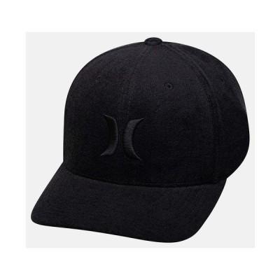 ハーレー 帽子 アクセサリー メンズ Men's Black Plaid Embroidered-Logo FlexFit Hat Black Terry