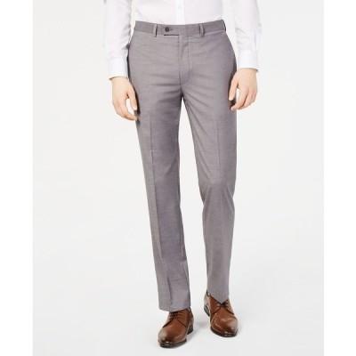 カルバンクライン カジュアルパンツ ボトムス メンズ Men's Slim-Fit Performance Stretch Wrinkle-Resistant Dress Pants Light Grey
