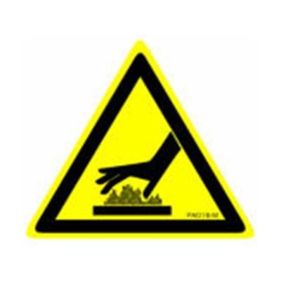 三角ラベル 「高温注意」 20枚x5シート PL警告 サイズS(24x28mm) PA016-S