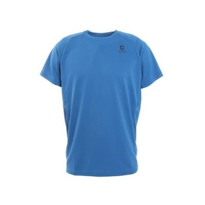 ジローム(GIRAUDM) 抗ウイルス素材 ナノガード ドライ 吸汗速乾 UV 半袖Tシャツ 863GM1TP6607 BLU 生地 服 洗える UVカット 速乾 (メンズ)